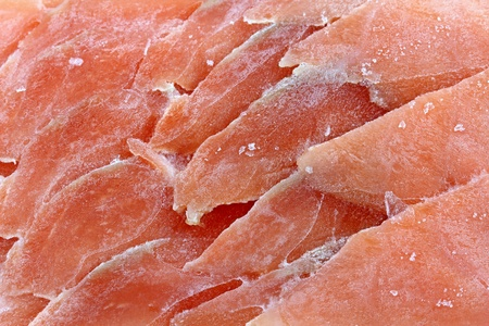 Closeup photo of frozen sliced raw salmon Stock Photo - 11153672