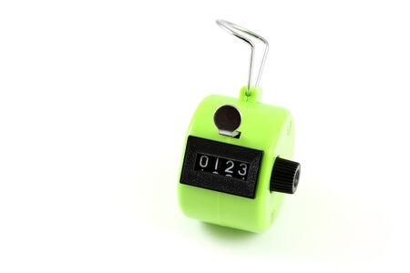 tally: 4 digits Hand Held Tally Counter : manual counting accessory to track number Stock Photo
