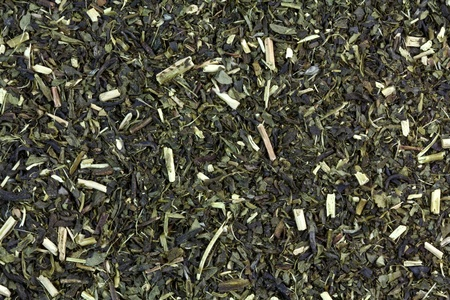 tannin: A background photo of Organic Japanese high-mountain Green tea with Jasmine  Stock Photo