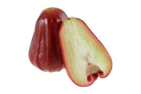 Closeup photo of sweet ripe Rose Apple, Water Apple (Chomphu) isolated on white Stock Photo - 11717392