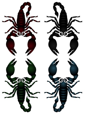 A cute collection of scorpions isolated on white Stock Vector - 12119548