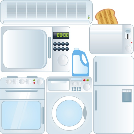 electronic devices: vector collection of Electronic devices - Household Applicants   Illustration
