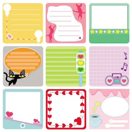 A Cute Collection of Blank Labels. A set of pastel Tags Isolated on white. Stock Vector - 12119616