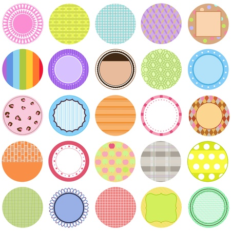 cute border: A Cute Collection of Vector Labels  Cards  Tags pastel colors Illustration