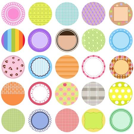 cute border: Una collezione di etichette vettoriali Carino  CARDS  Tags colori pastello Vettoriali