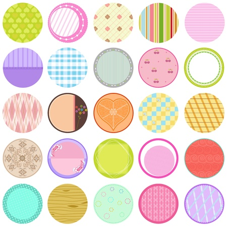 decorative card symbols: A Cute Collection of Vector Labels  Cards  Tags pastel colors Illustration