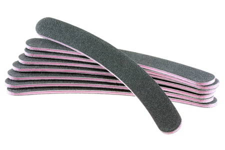 emery: A stack of flexible Emery board used in manicures and pedicures - Nail Files