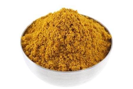 cumin: A bowl of spicy Curry Powder, main ingredient to cook Asian curry