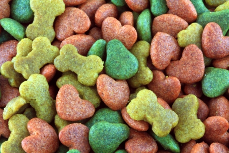 dog biscuit: A background photo of Dried food for dog puppy