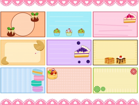 blueberry cheesecake: A Cute Collection of Label   Card   Name card   Tag in pastel colors