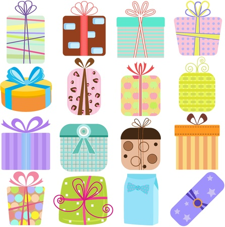wrap wrapped: A set of simple and cute Illustration