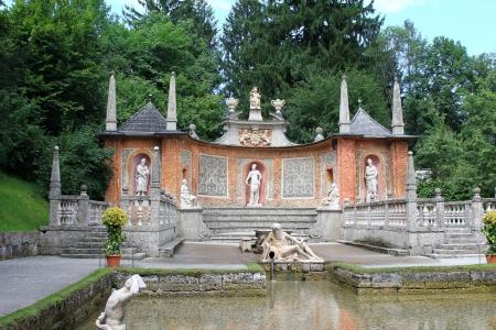 schloss: Tourist Attraction   Waterpark at the Summer Palace  Schloss Hellbrunn  in Salzburg, Austria