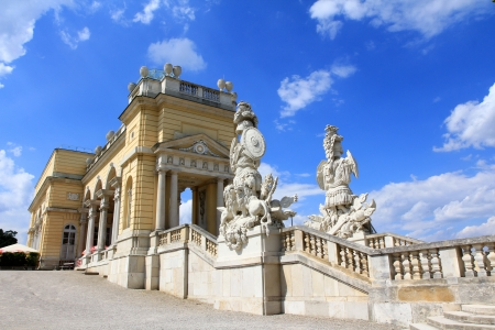 the gloriette: The Gloriette in the Schloss Schoenbrunn Palace Garden, built in 1775 Austria