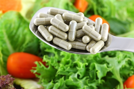 Concentrated Fiber Capsules OR Fresh Salad, to support Digestive system photo