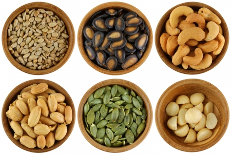 Roasted and Salted Sunflower seeds, Watermelon seeds, Cashew Nuts, Peanuts, Pumpkin seeds, macadamia