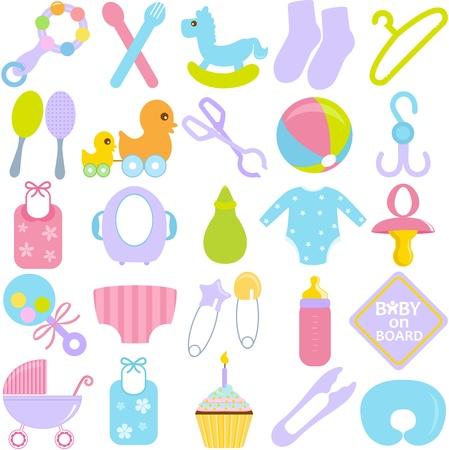 A  collection of Accessories for Mom and Baby in Pastel