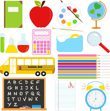 A collection of Back to School icons