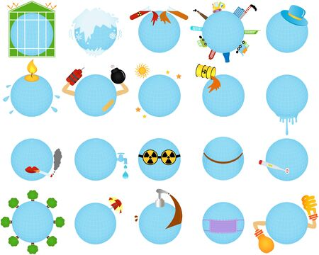 Icons of Environmental Change   Global warming Stock Vector - 17638218