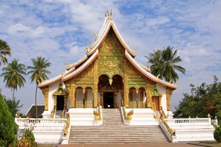 Front View of The Royal Palace  Haw Kham  in Luang Prabang, Laos Stock Photo - 19886348