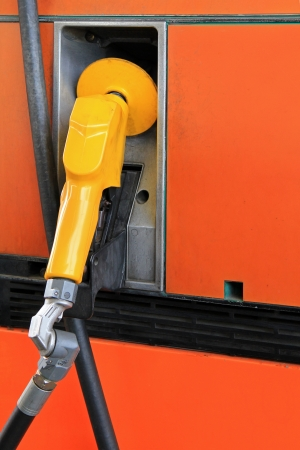 octane: Fuel Pump Nozzle at the Gas service station