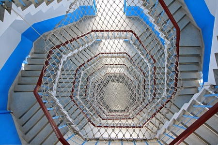 Spiral Staircase with rope netting  photo