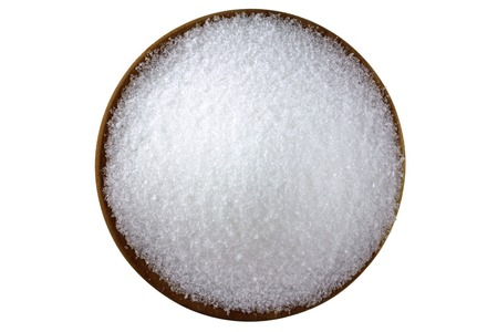 Closeup photo of fine Magnesium sulfate  Epsom salts  Stock Photo