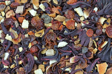 Background photo of dried Fruit tea  photo