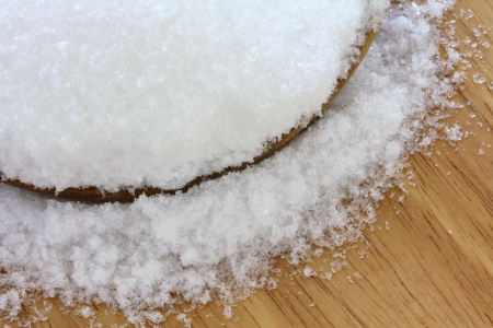 Closeup photo of fine Magnesium sulfate  Epsom salts  photo