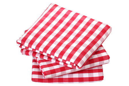 gingham: Folded fabric, gingham pattern