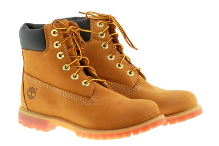 timberland: A pair of Timberland 6-Inch premium waterproof boots for women on 21 November 2014 in Bangkok, Thailand