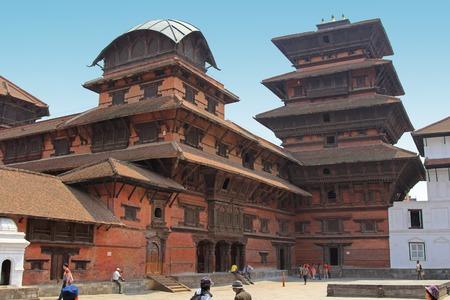 storied: The Basantapur Durbar, also called Kathmandu Tower in the Durbar Square, Kathmandu, Nepal. It is a 9 storied tower built in 1770. One of Durbar square\\ Editorial