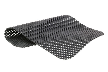 netty: Un trozo de gris estera antideslizante aislados sobre fondo blanco