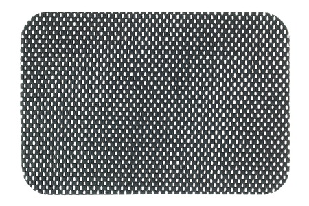 netty: A piece of Gray anti slip mat isolated on white background
