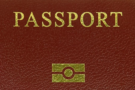 Closeup photo of Biometrics logo printed on Electronic passports