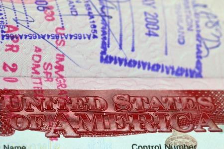 Nahaufnahme Des Schengen Visum Nach Österreich Deutschland Mit ...