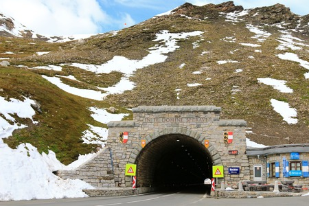 hochalpenstrasse: Hochtor, the mountain pass tunnel, at Grossglockner High Alpine Road in Austria on September 16, 2014. Hochtor is situated at the height of 2503m. and It connects Bruck in the state of Salzburg with Heiligenblut in Carinthia. Editorial