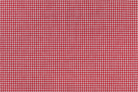 gingham pattern: Closeup texture background photo of fabric with checked red Gingham pattern