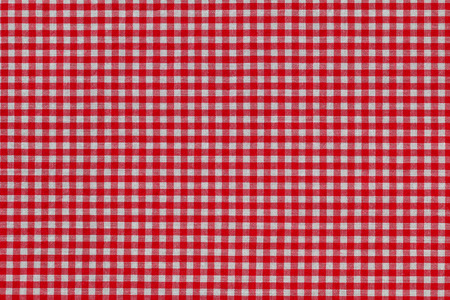 red gingham: Closeup texture background photo of fabric with checked red Gingham pattern