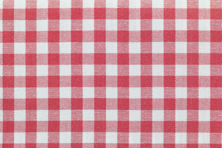 gingham pattern: Closeup texture background photo of fabric with checked pink Gingham pattern Stock Photo