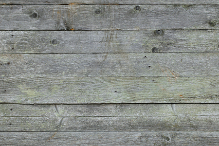 Closeup background texture photo of rustic weathered barn wood with visible shades of green 免版税图像