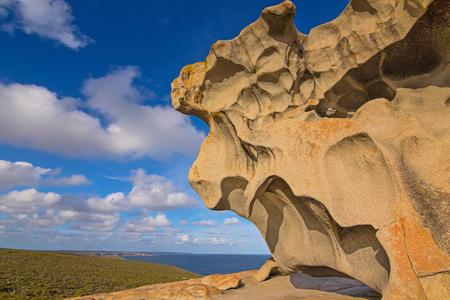 natural formation: Remarkable Rocks, natural rock formation at Flinders Chase National Park. One of Kangaroo Islands iconic landmarks, South Australia