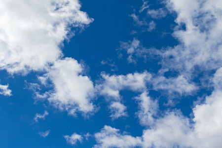 filamentous: Natural bright blue sky with white clouds formation
