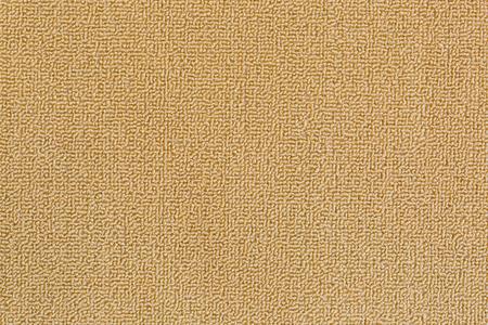floor rug: Closeup detailed texture of new and clean floor rug, doormat in beige color