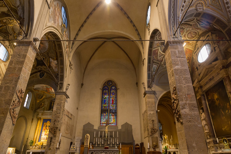 extant: FLORENCE, ITALY - SEPTEMBER 2016 : Interior of Santa Maria Maggiore (Chiesa di Santa Maria Maggiore), Roman Catholic church in Florence, Italy on September 21, 2016.