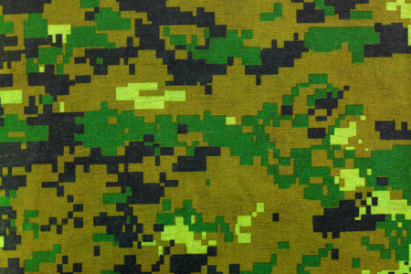 concealment: Closeup camouflage pattern for hiding, disguising. Detailed of digital camo texture