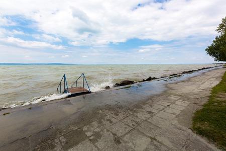 Lake Balaton, freshwater lake in Transdanubian region in western Hungary, the largest lake in Central Europe