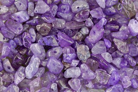 Purple Amethyst Chip Stone beads with hole to make jewelry craft