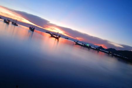 sunset at kao tao,south of thailand photo