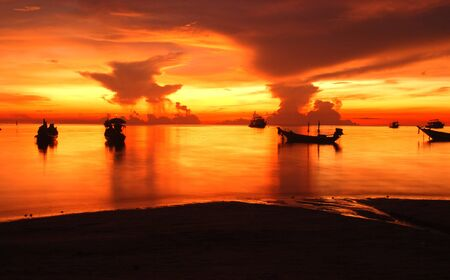 sunset at kao tao,south of thailand photo