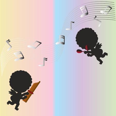 enjoy: The kids enjoy the music